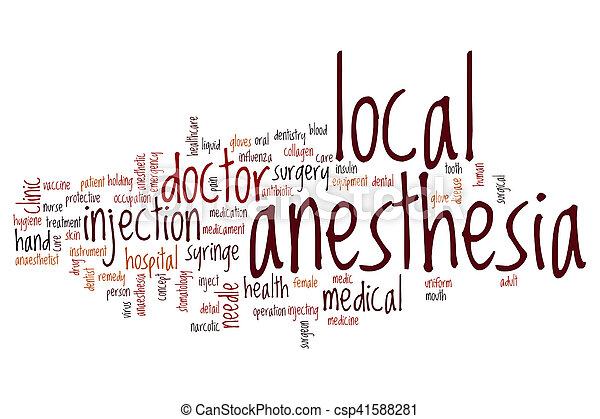Local anesthesia word cloud - csp41588281