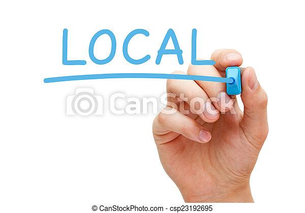 Local Blue Marker - csp23192695