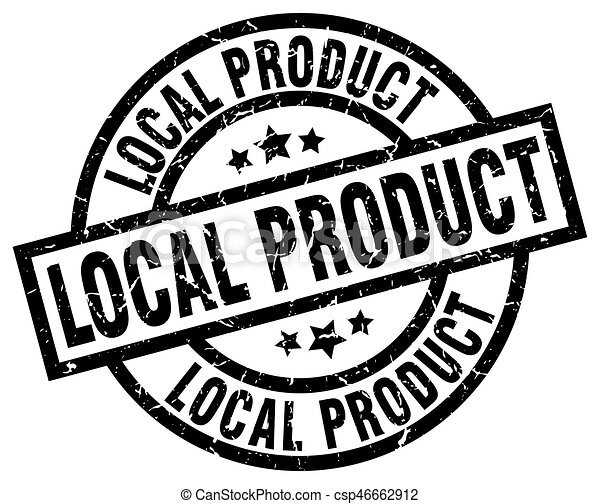 local product round grunge black stamp - csp46662912