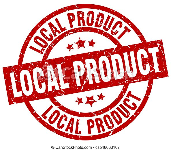 local product round red grunge stamp - csp46663107