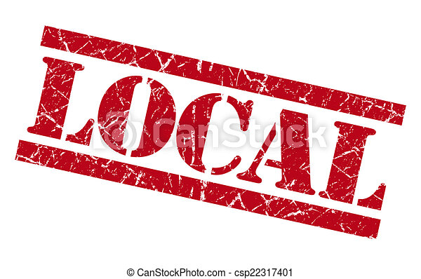 local red grungy stamp on white background - csp22317401