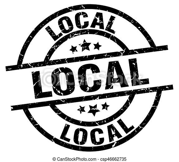 local round grunge black stamp - csp46662735
