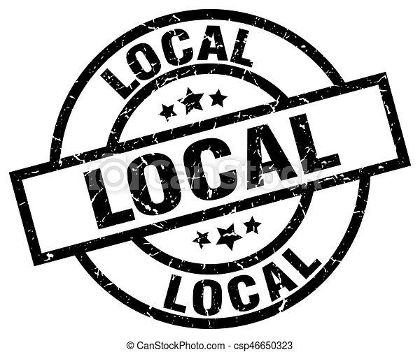 local round grunge black stamp - csp46650323