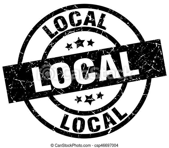 local round grunge black stamp - csp46697004