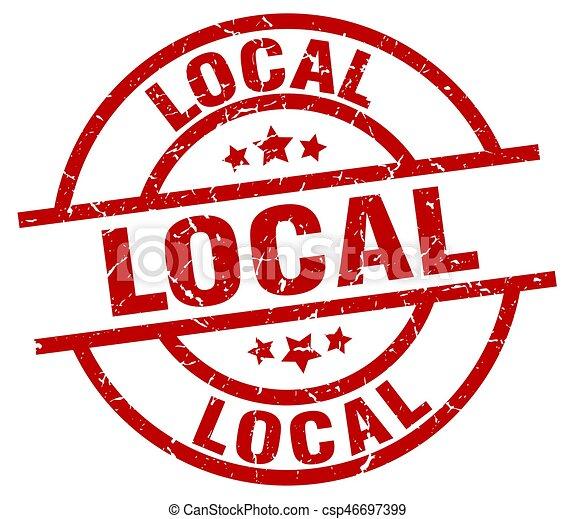 local round red grunge stamp - csp46697399