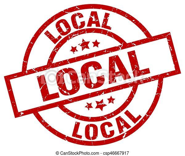 local round red grunge stamp - csp46667917