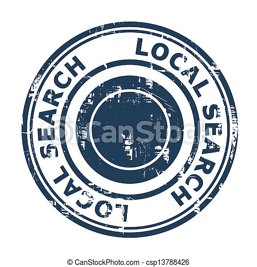 Local search SEO concept stamp - csp13788426