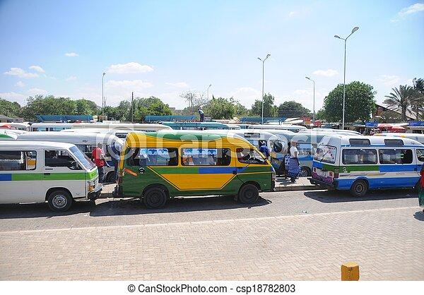 local transport in Tanzania - csp18782803