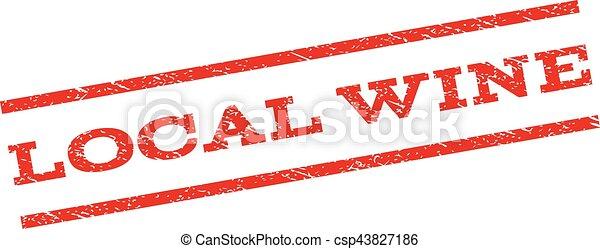 Local Wine Watermark Stamp - csp43827186