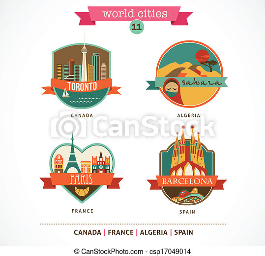 locali, -, parigi, toronto, barcellona, sahara, mondo - csp17049014