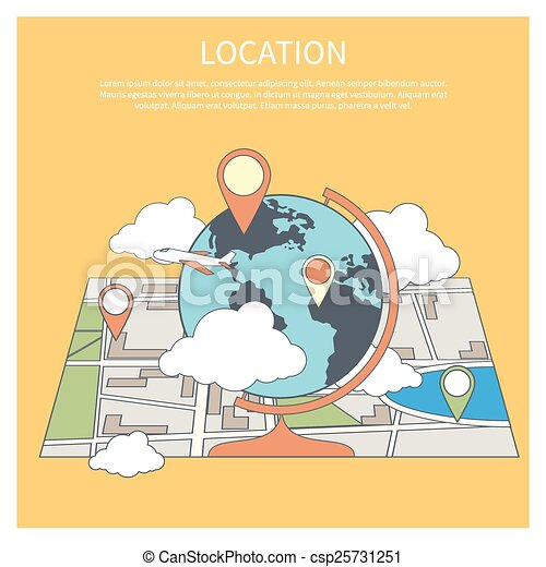 Location concept world map infographic in flat design style globe world map infographic csp25731251 gumiabroncs Choice Image
