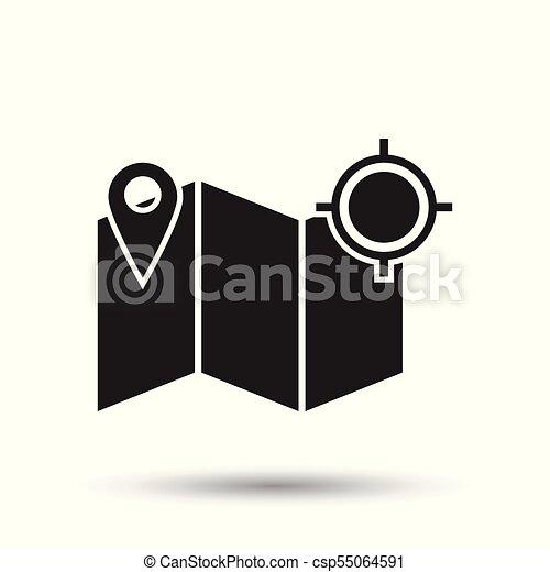 location gps icon flat vector illustration location sign symbol