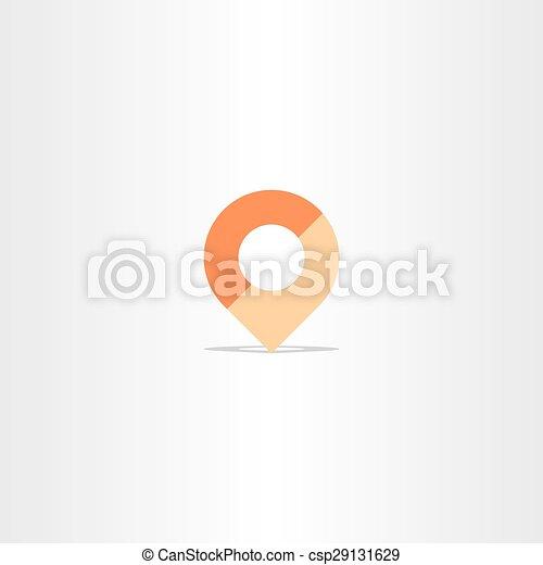 location map marker navigation icon vector - csp29131629