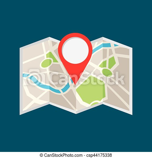 location pin and map icon - csp44175338