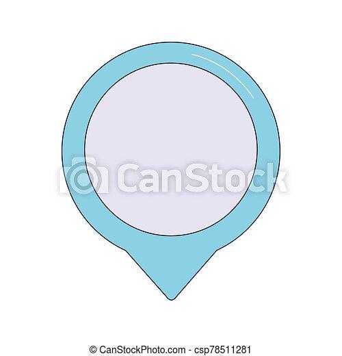 location pin icon, colorful design - csp78511281
