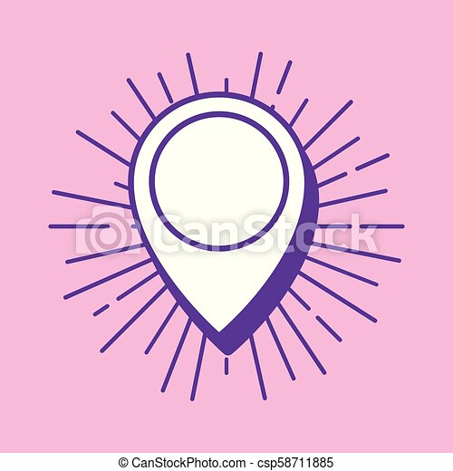 location pin icon - csp58711885