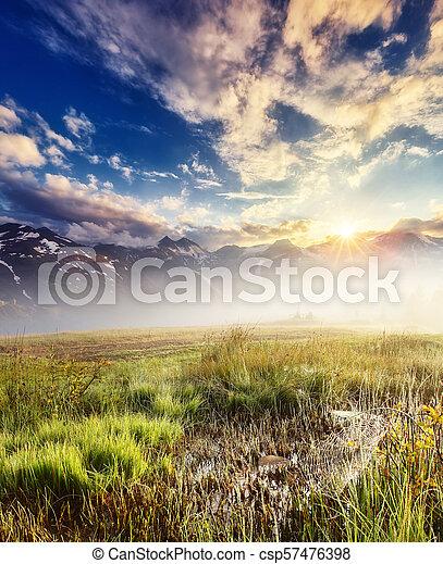Location place High Alpine Road, Austria. Europe. - csp57476398