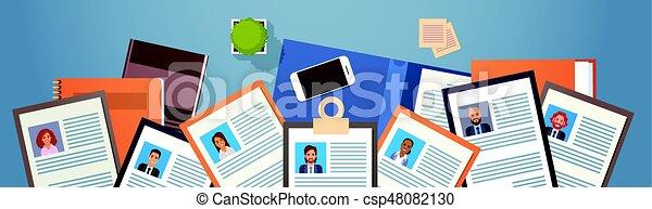 location, profil, business, programme scolaire, cv, gens, métier, vue, sommet, candidat, vitae, recrutement, angle, position, bureau - csp48082130