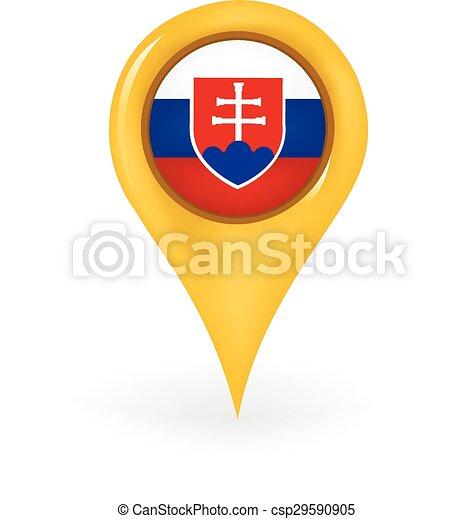 Location slovakia. Map pin showing slovakia.