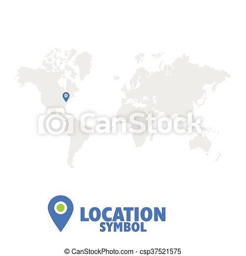 World Map Gps.Location Symbol Map Pointer Gps Location Icon World Map