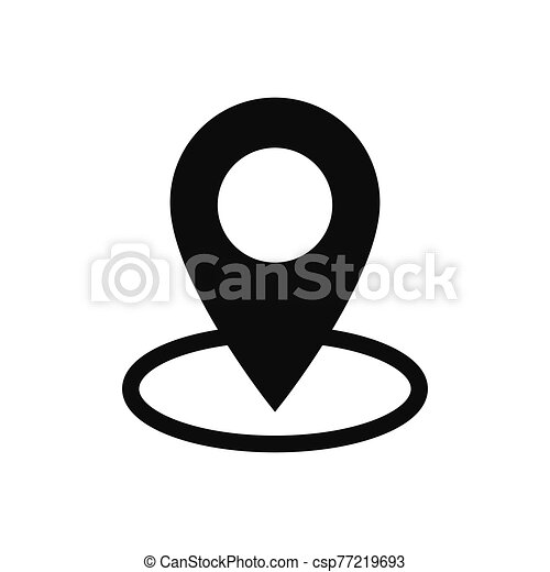 Location vector icon in modern design style for web site and mobile app - csp77219693