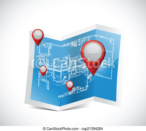 Locator pointers blueprint illustration design over a white locator pointers blueprint illustration malvernweather Choice Image