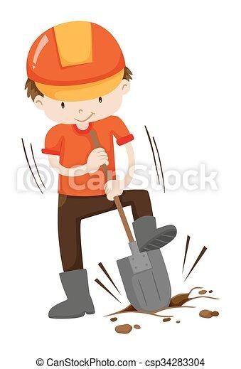 Loch boden graben mann loch boden graben abbildung for Boden clipart
