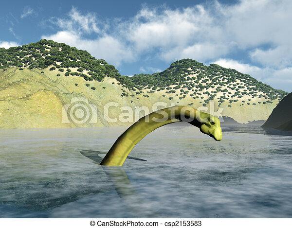 Loch Ness Monster - csp2153583
