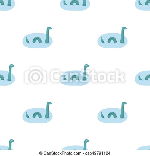 Loch Ness Monster Icon In Cartoon Style Isolated On White Clip