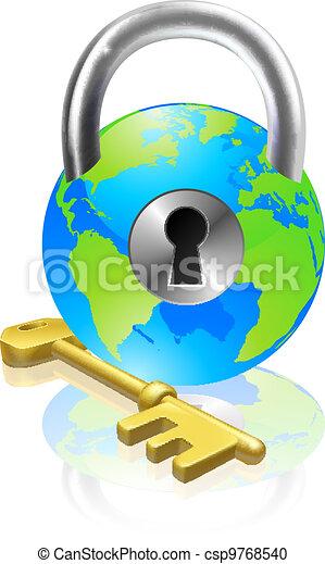 Lock and Key Globe - csp9768540
