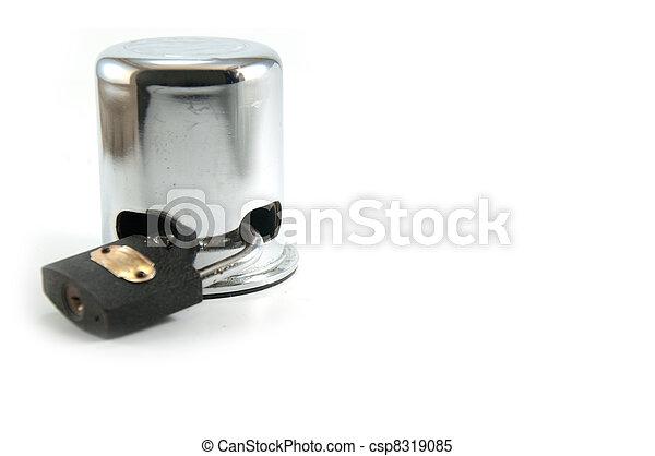 Lock - isolated on white - csp8319085