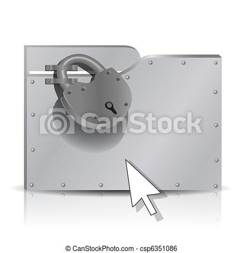 Locked folder - csp6351086