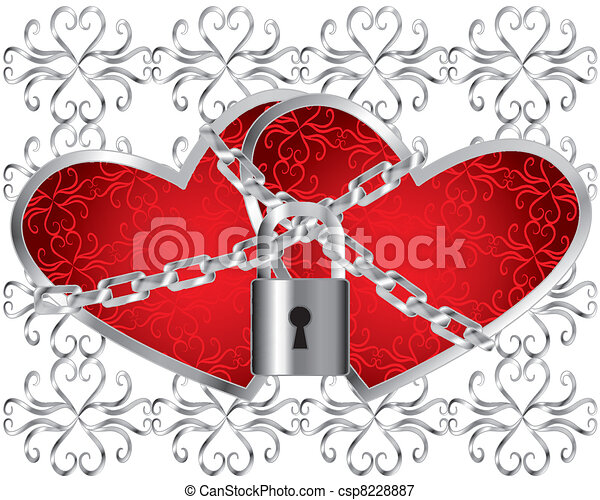 locked hearts two hearts locked together like an unbreakable bond