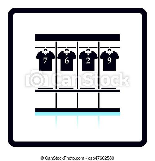locker room icon shadow reflection design vector vector rh canstockphoto com locker clipart lock clipart
