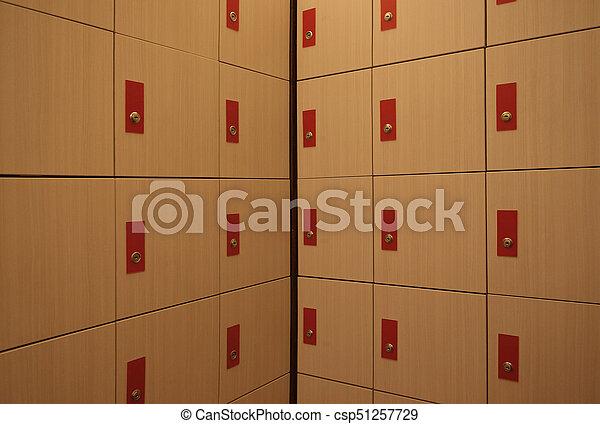 Locker room. - csp51257729