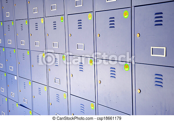 Lockers. Blue locker in the changing room. on blue tools, blue printers, blue screens, blue folders, blue first aid, blue pallets, blue benches, blue containers, blue files, blue floors, blue bar, blue linen, blue mailboxes, blue signs, blue boxes, blue scales, blue library, blue cupboards, blue zebra, blue locks,