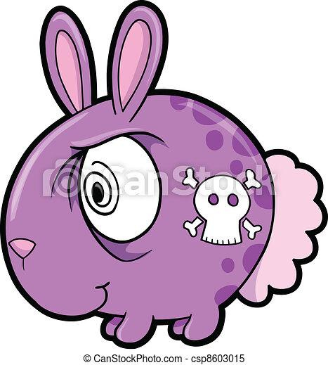 El loco conejo vector de animales - csp8603015