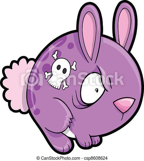 El loco conejo vector de animales - csp8608624
