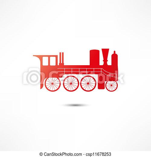 Locomotive Icon - csp11678253