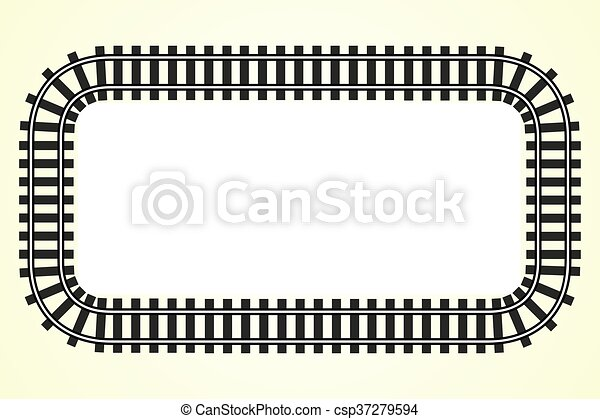 locomotive railroad track frame rail transport background with place for text - csp37279594