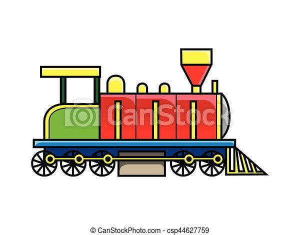 Locomotive train side view clipart vector - Search ...