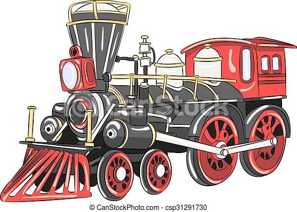 locomotive., vapor, vector. - csp31291730