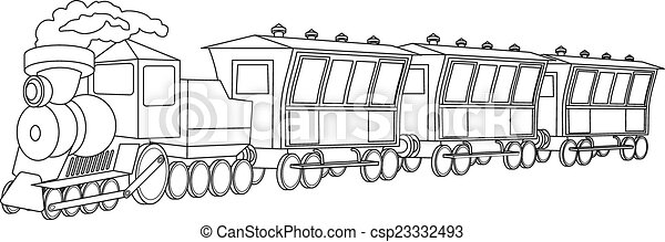 Locomotive. Vintage style - csp23332493