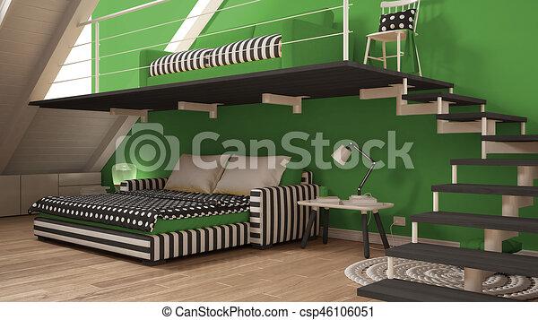 Loft Mezzanine One Room Minimalist Living And Bedroom White And New 1 Bedroom Loft Minimalist Collection