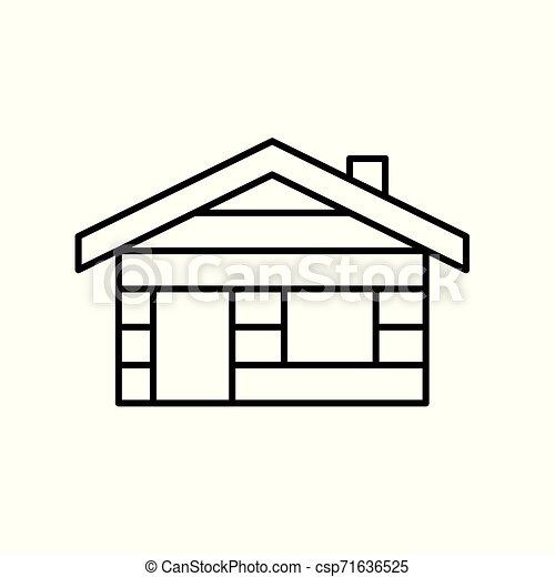 log cabin, cottage icon- vector illustration - csp71636525