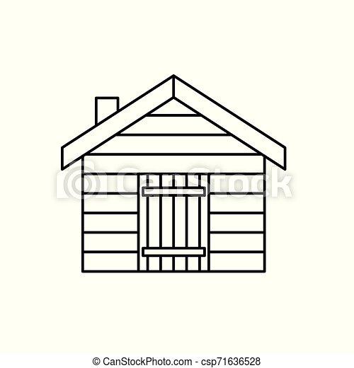 log cabin, cottage icon- vector illustration - csp71636528