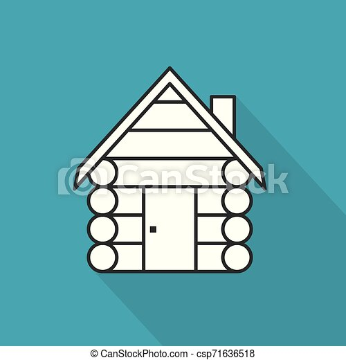 log cabin, cottage icon- vector illustration - csp71636518
