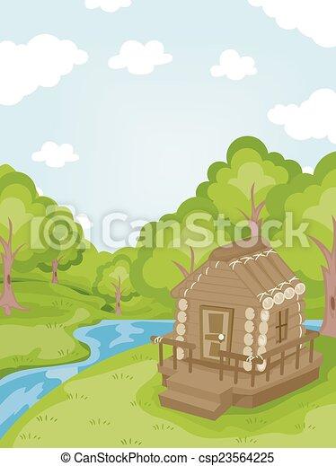 Log Cabin - csp23564225
