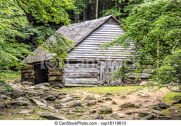 Log Cabin in the Woods - csp18119610
