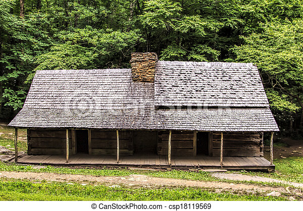 Log Cabin in the Woods - csp18119569